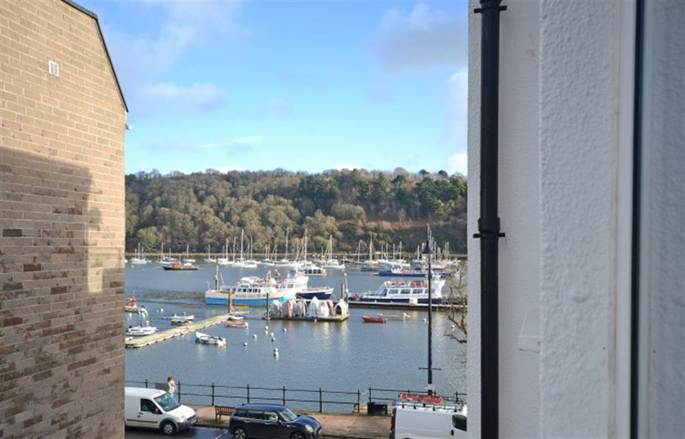 The side view of the Dartmouth Embankment from the living room window. at 6 Lee Court, Dartmouth