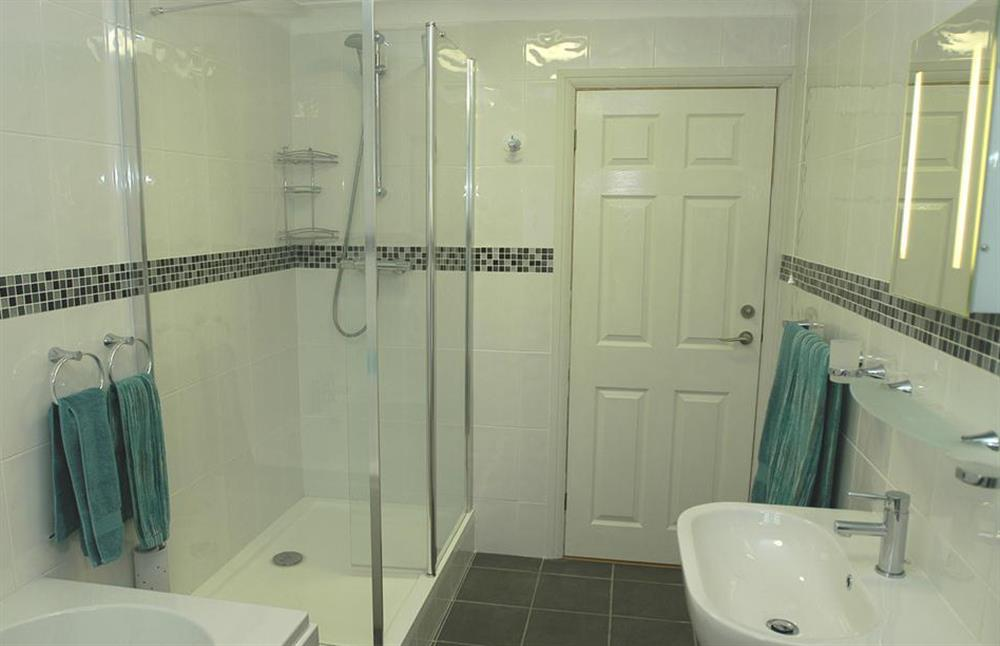 The new bathroom showing the seperate shower cubicle at 6 Mayflower Court, Dartmouth