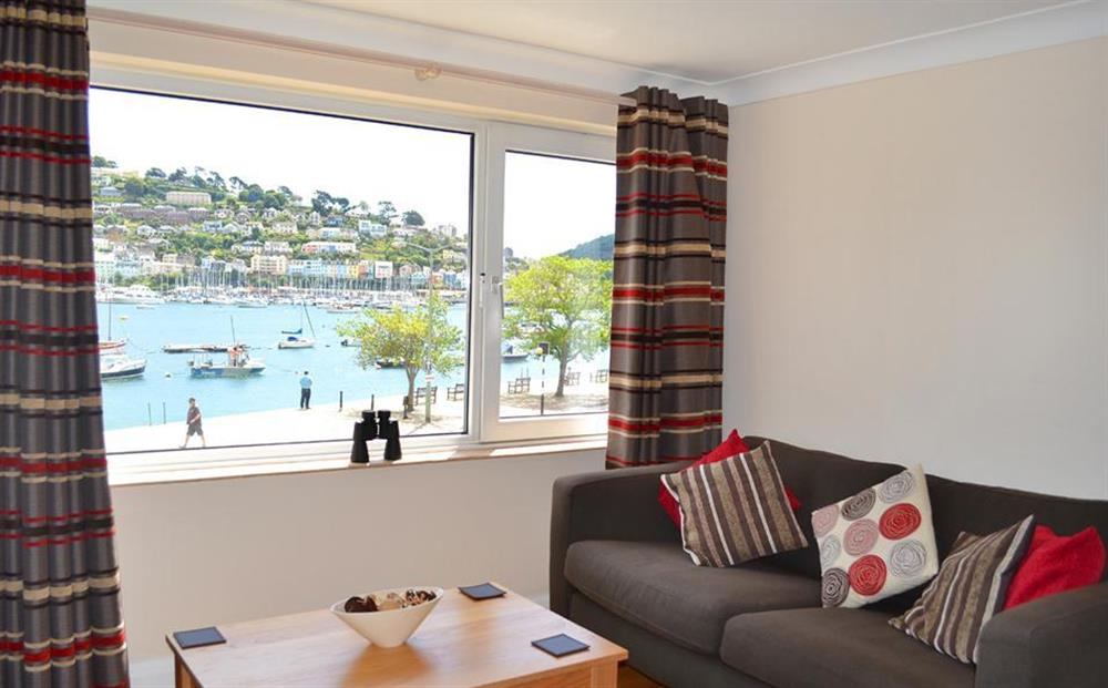 The seating area and views at 6 Mayflower Court, Dartmouth