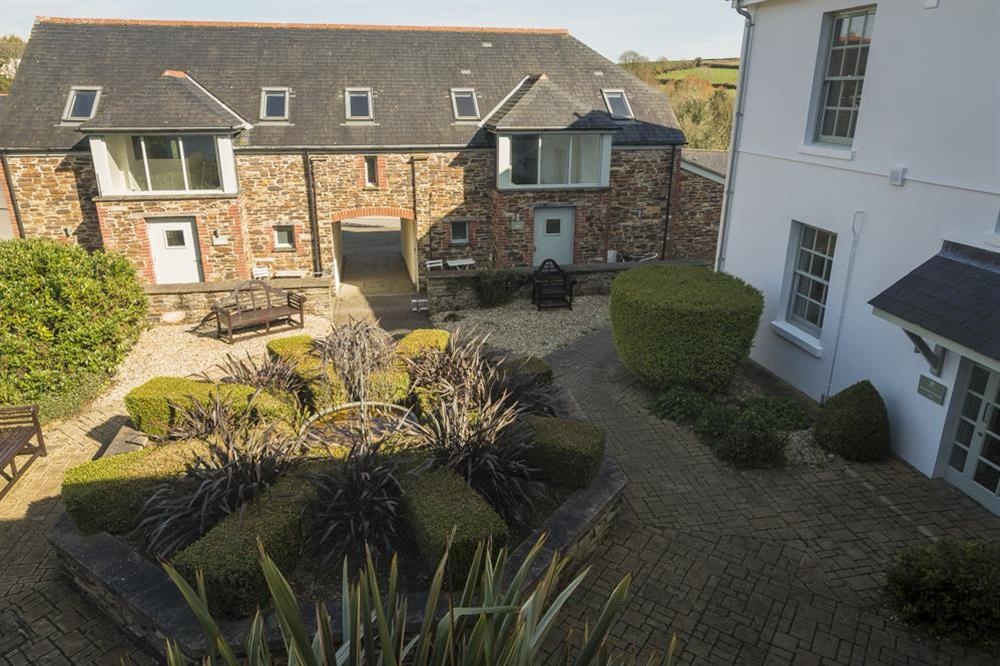 View over courtyard from Juliet balcony at 6 The Manor House, Hillfield Village in , Hillfield, Dartmouth