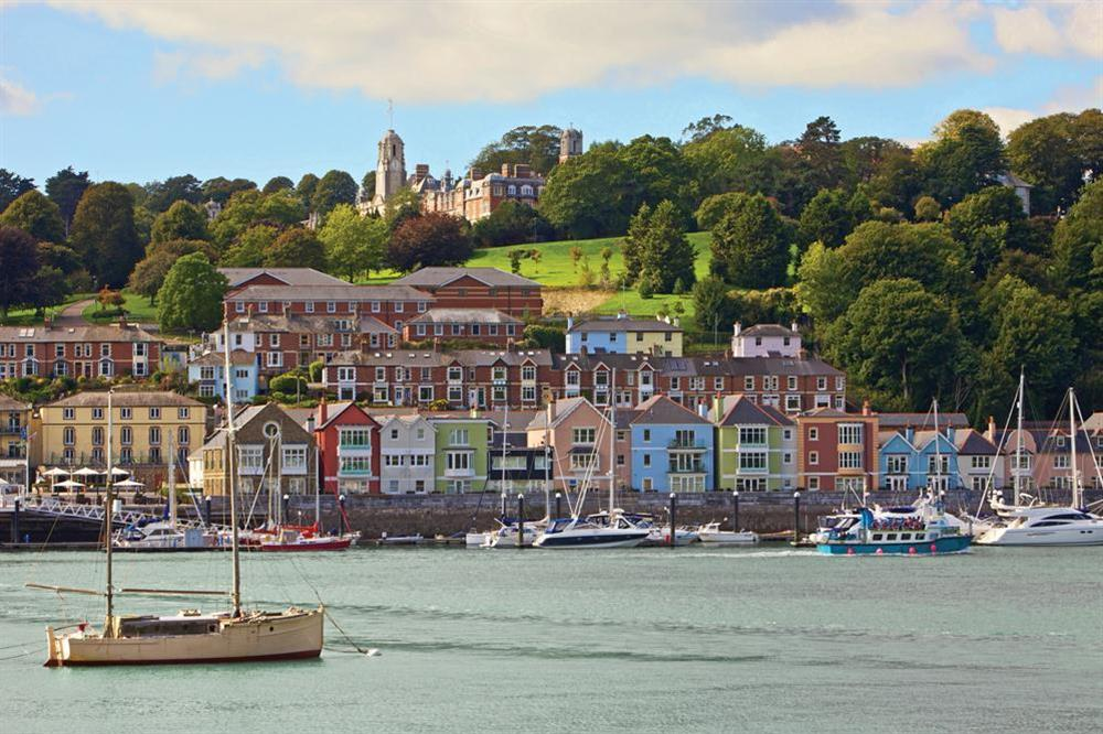 Looking across the River Dart towards the Development at 7 Dart Marina in Sandquay Road, Dartmouth