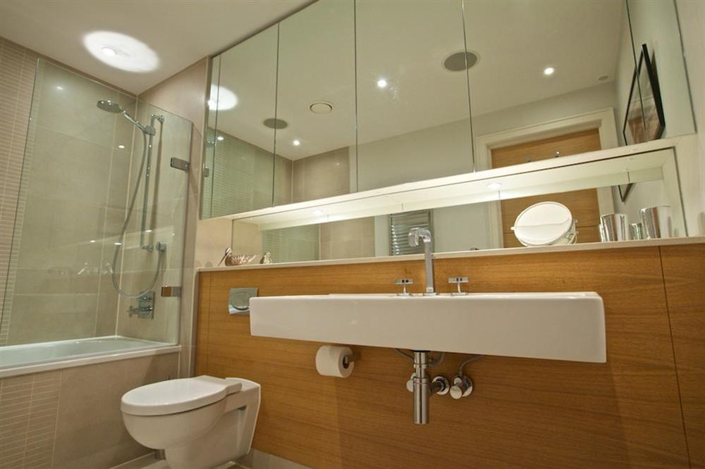 Lovely family bathroom (opposite the twin bedroom), with Kaldewei bath and shower (over) (photo 2) at 7 Dart Marina in Sandquay Road, Dartmouth