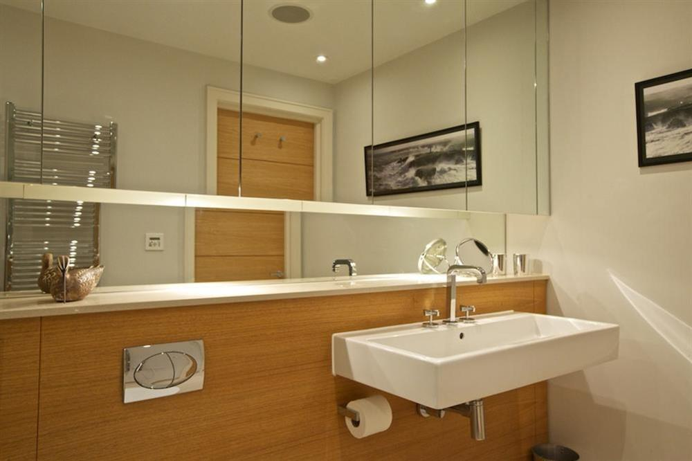 Lovely family bathroom (opposite the twin bedroom), with Kaldewei bath and shower (over) (photo 3) at 7 Dart Marina in Sandquay Road, Dartmouth