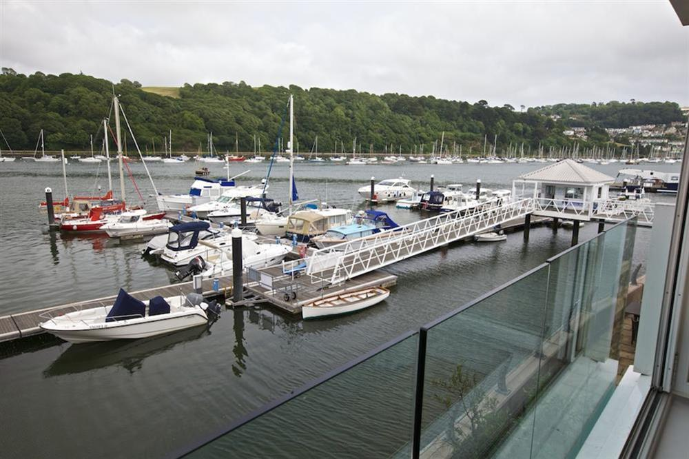 Stunning views from 'internal' balcony (photo 2) at 7 Dart Marina in Sandquay Road, Dartmouth