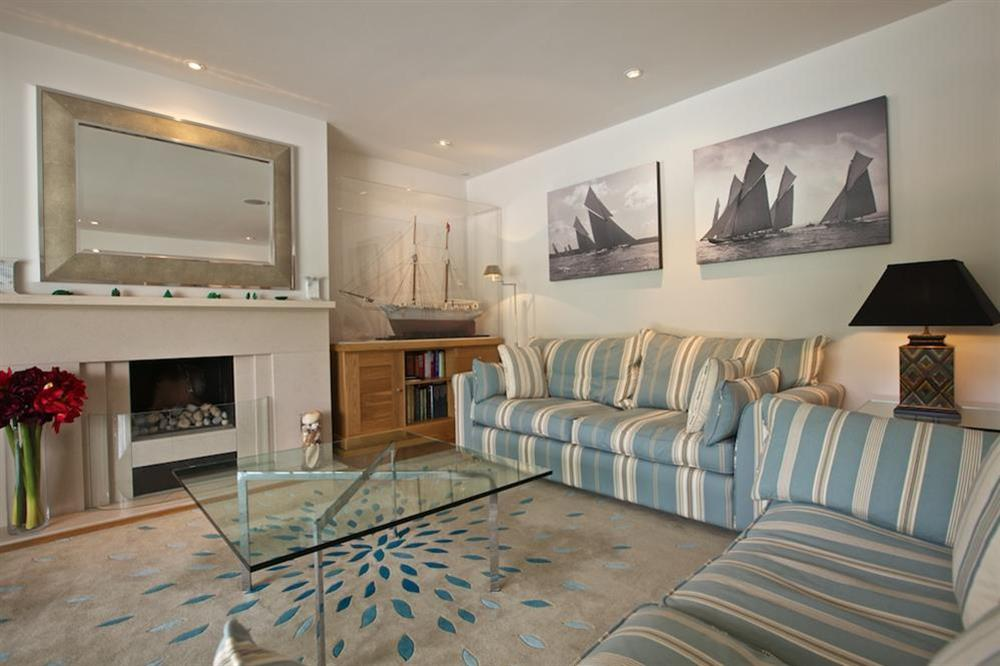 Stylishly elegant lounge with two double sofas (photo 2) at 7 Dart Marina in Sandquay Road, Dartmouth