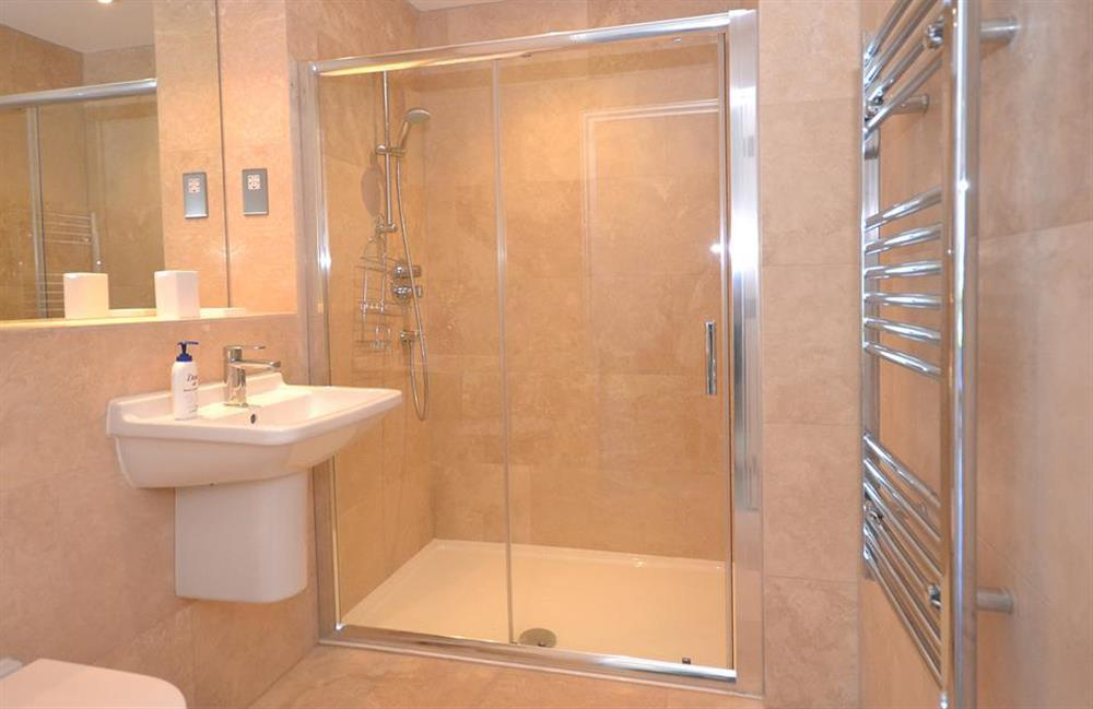 The family shower room at 7 Dufour, East Allington