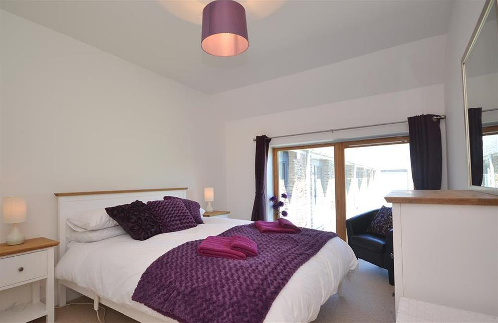 The master bedroom off the lounge at 7 Dufour, East Allington