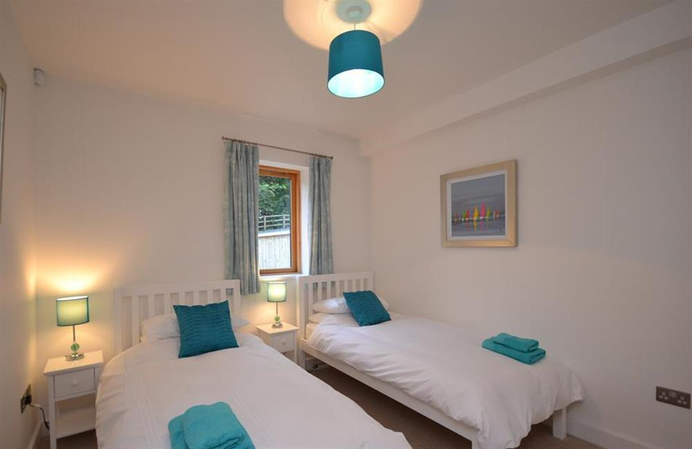 The twin bedroom at 7 Dufour, East Allington