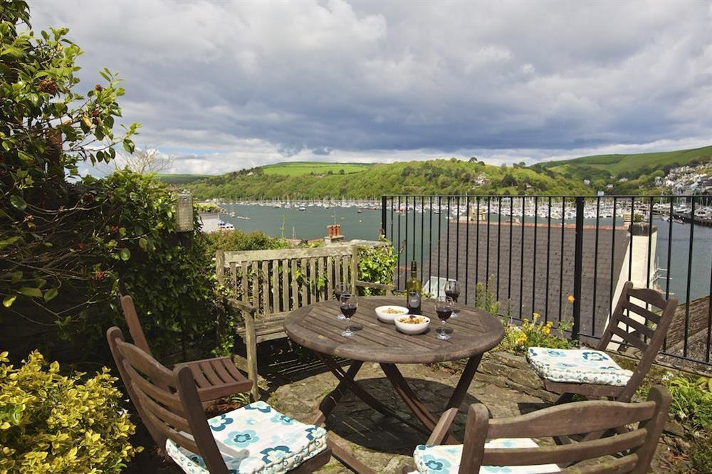 Terrace area with lovely views over Dartmouth estuary at 7 Nelson Steps in , Dartmouth