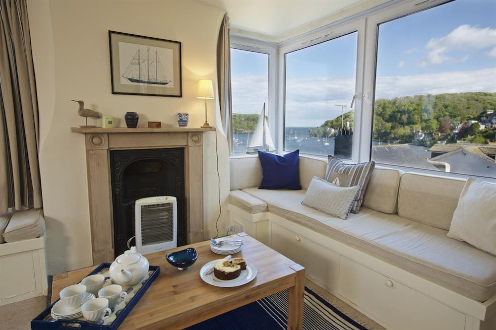 Window seat in the living room with views over Dartmouth estuary at 7 Nelson Steps in , Dartmouth