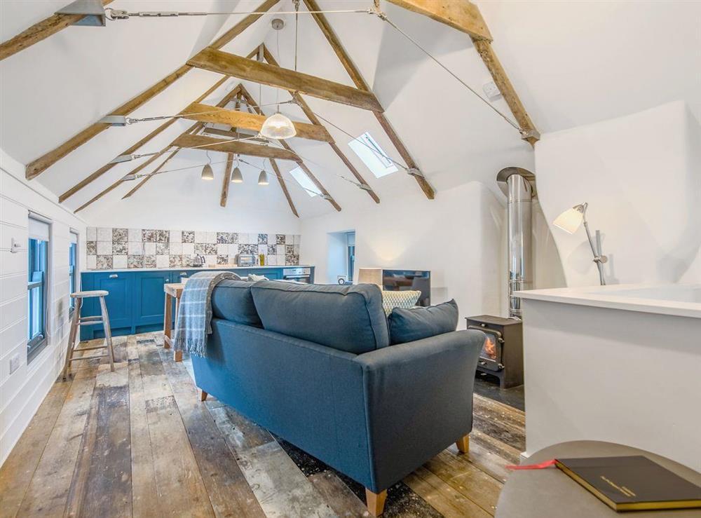 Wonderful open plan living space at 9 Chapel Street in Mousehole, near Penzance, Cornwall
