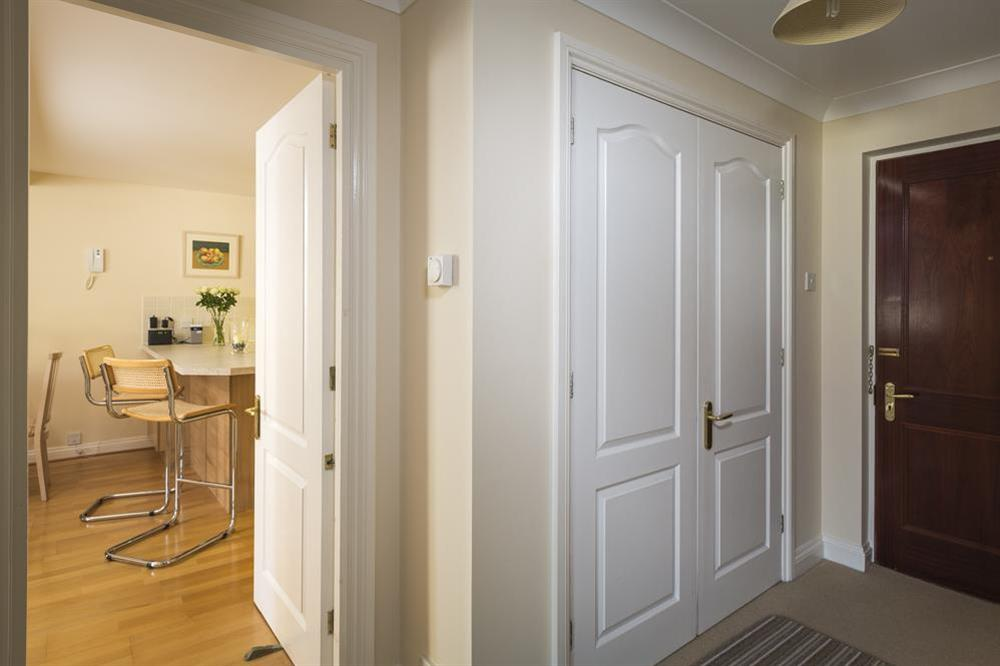 Entrance hallway with airing cupboard at 9 Dartmouth House in , Dartmouth