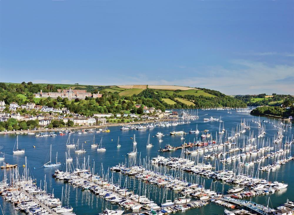 Looking across the River Dart to Britannia Royal Naval College at 94 Above Town in , Dartmouth