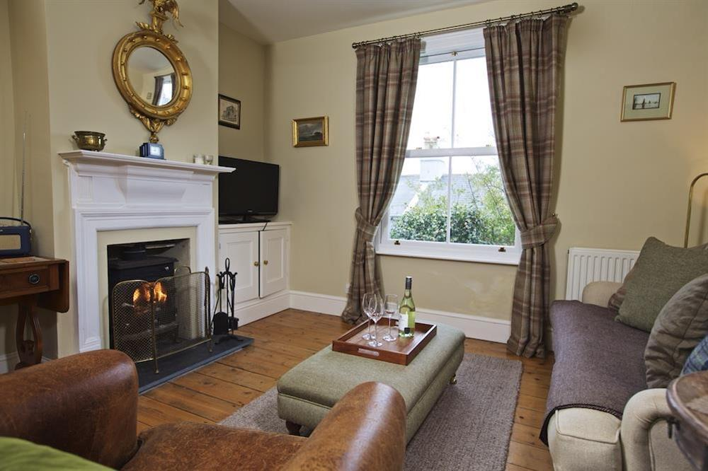 Sitting room with wood-burning stove at 94 Above Town in , Dartmouth