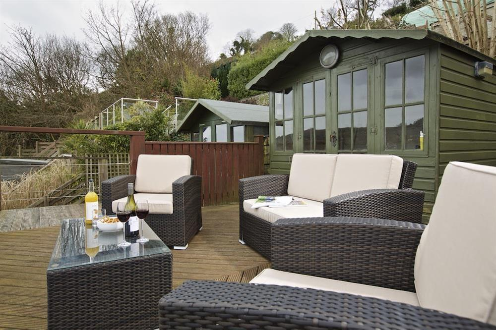 The upper decking has a beautiful set of rattan furniture and great views (photo 2) at 94 Above Town in , Dartmouth