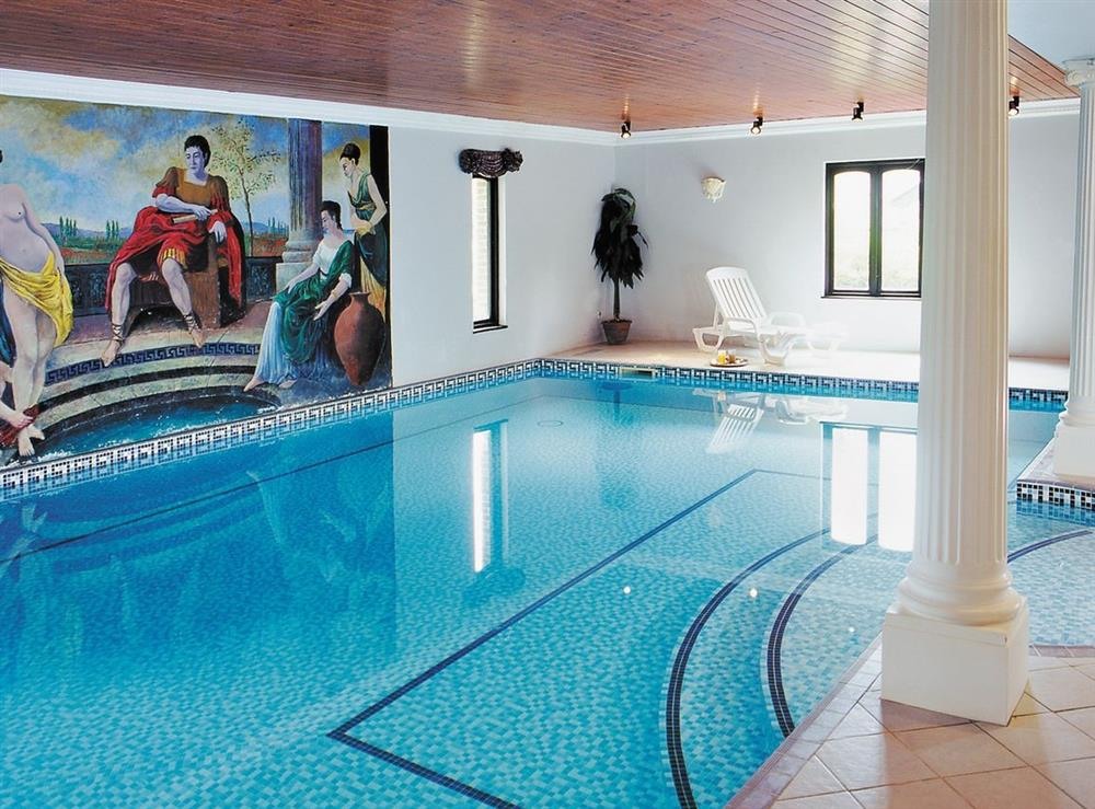 Indoor swimming pool at Abbotsea in Higher Bockhampton, Nr Dorchester, Dorset., Great Britain