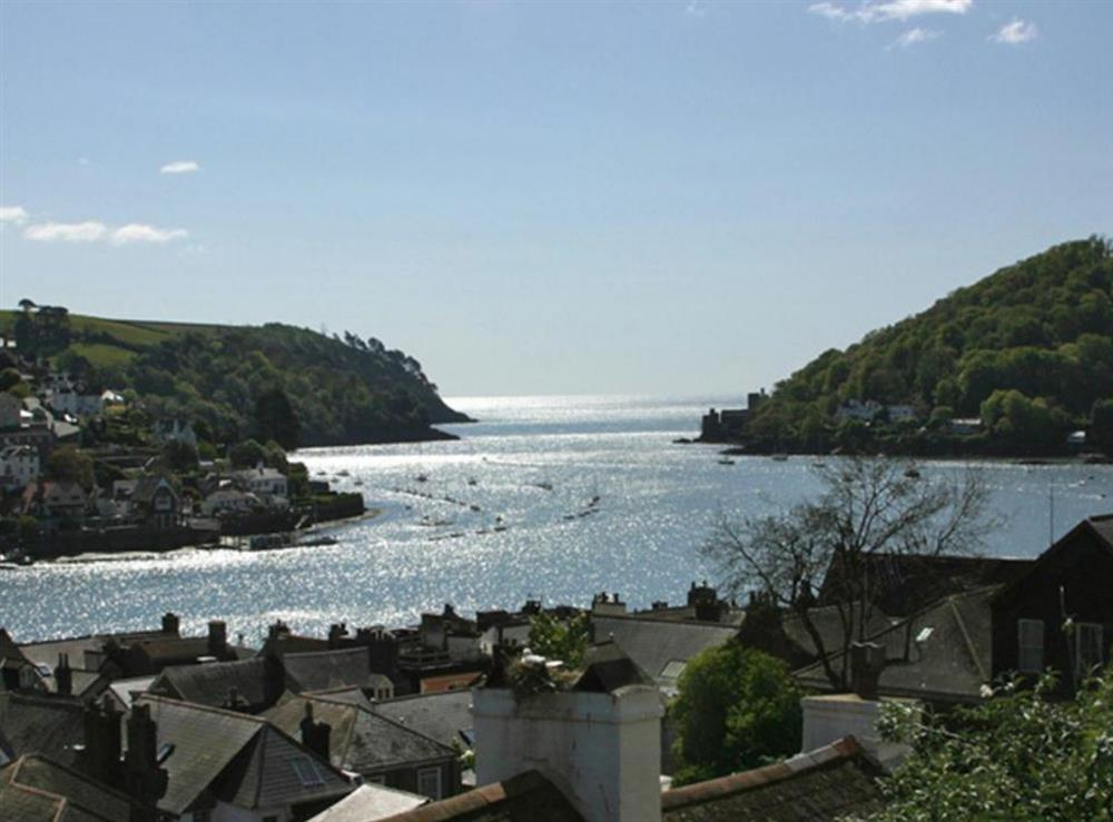 View from the bedroom at Above Town 19 in Dartmouth, Devon