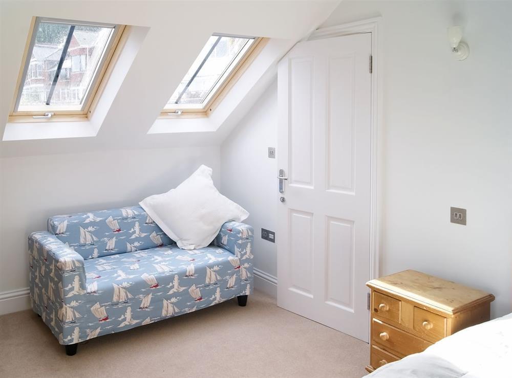 Master bedroom at Above Town 77 in Dartmouth, Devon