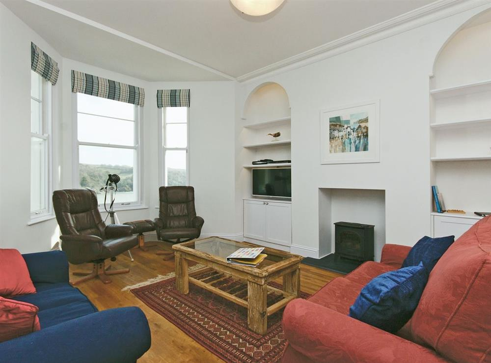 Open plan living/dining room/kitchen at Above Town 77 in Dartmouth, Devon