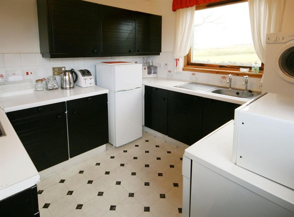 Kitchen at Achue Croft Cottage in Bonar Bridge, Ross-Shire