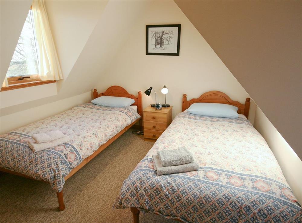 Twin bedroom at Achue Croft Cottage in Bonar Bridge, Ross-Shire
