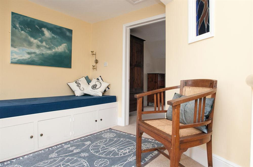 Sitting area outside master bedroom with views over the river at Aeolus House in 42 Newcomen Road, Dartmouth