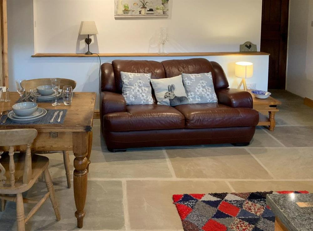 Living area at The Wool Loft,