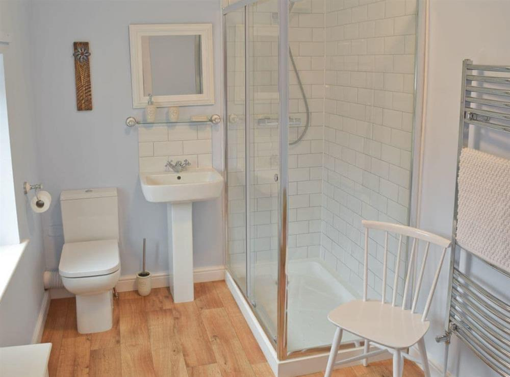 Shower room with toilet at Albion Cottage in Pakefield, near Lowestoft, Suffolk