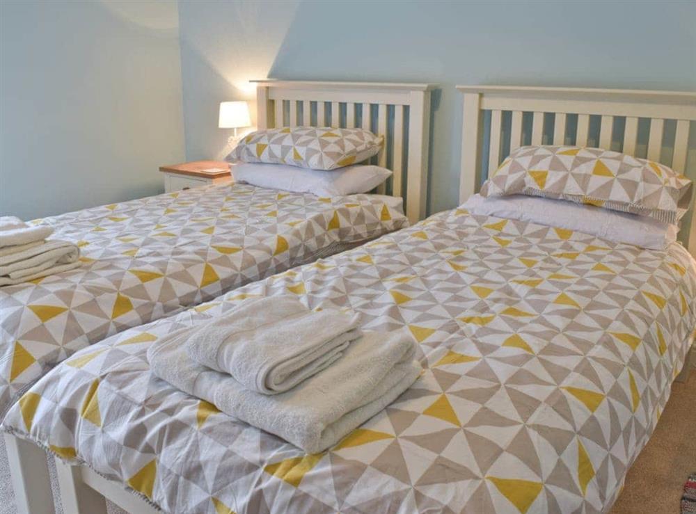 Twin bedroom at Albion Cottage in Pakefield, near Lowestoft, Suffolk