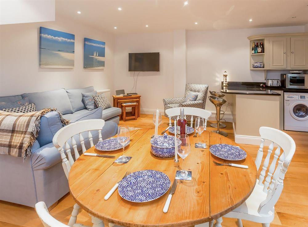 Open plan living space at The Lobster Pot,