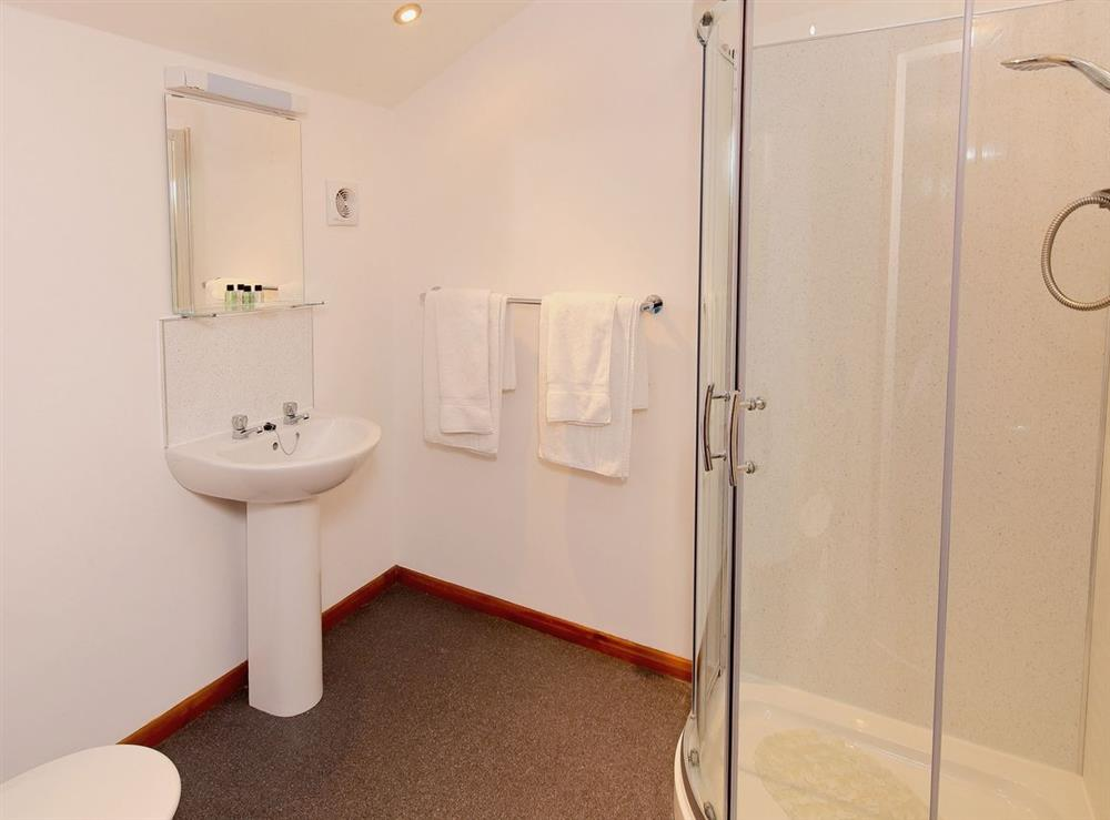 Shower room at Jamess Parlour,