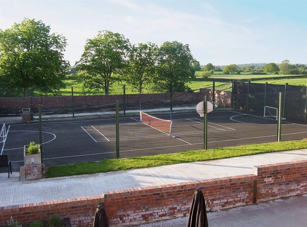 Tennis court at Jamess Parlour,
