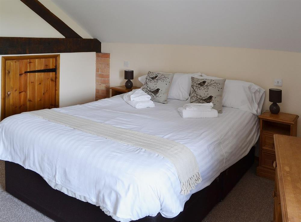 Double bedroom at Williams Hayloft,
