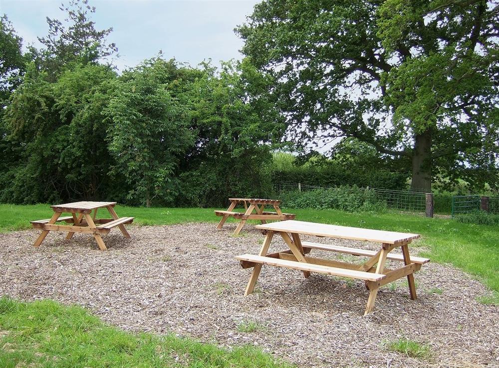 Picnic area at Williams Hayloft,