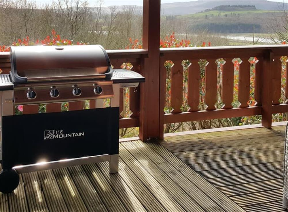 Decking with barbeque