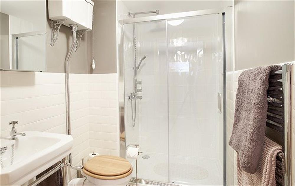 Ground floor: Shower room with large electric power shower at Am Bathach, Sutherland