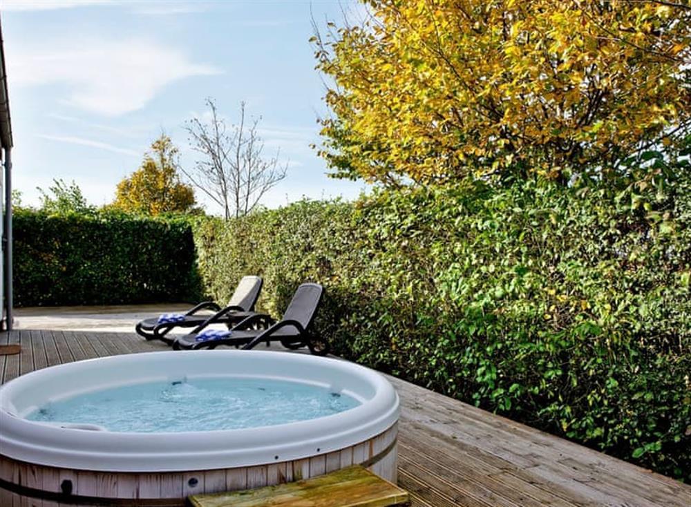 Inviting hot tub at Amber Lodge in , Cheddar