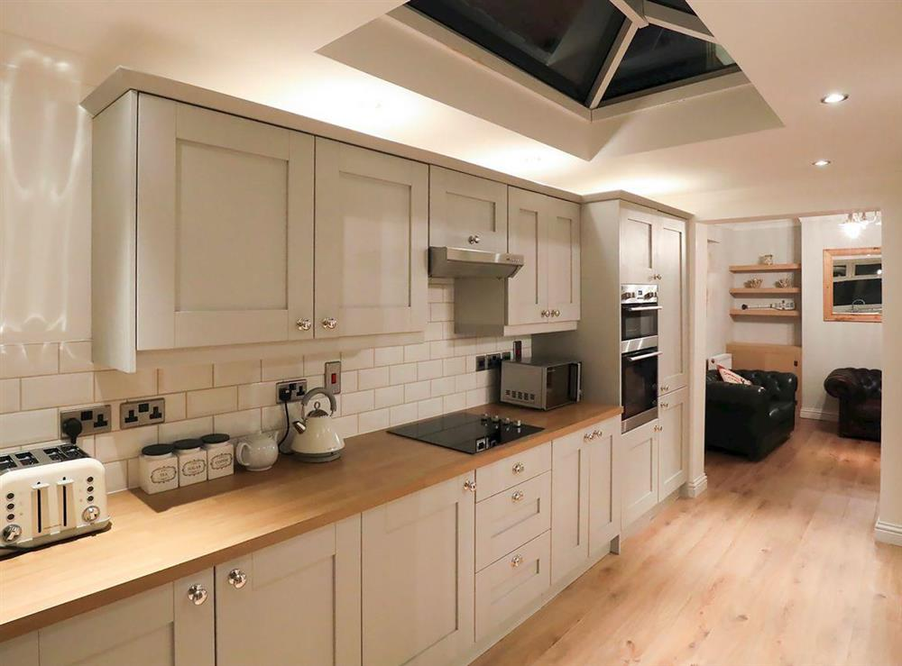 Spacious kitchen and dining area at Amelia House in Sheringham, Norfolk