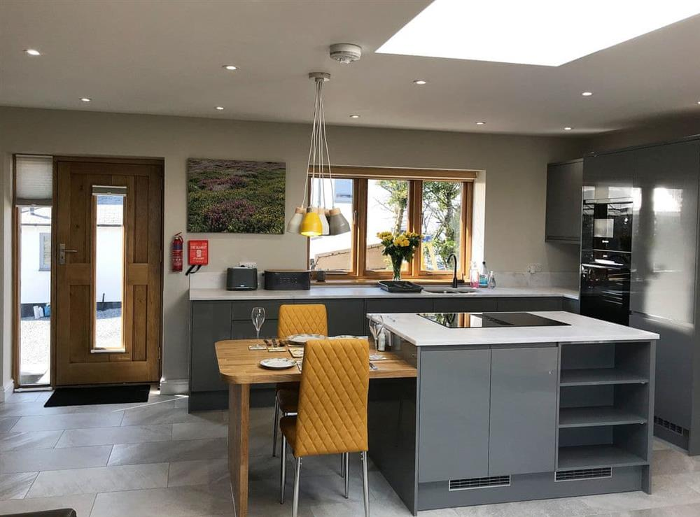 Open plan living space at Ty Cwtch,