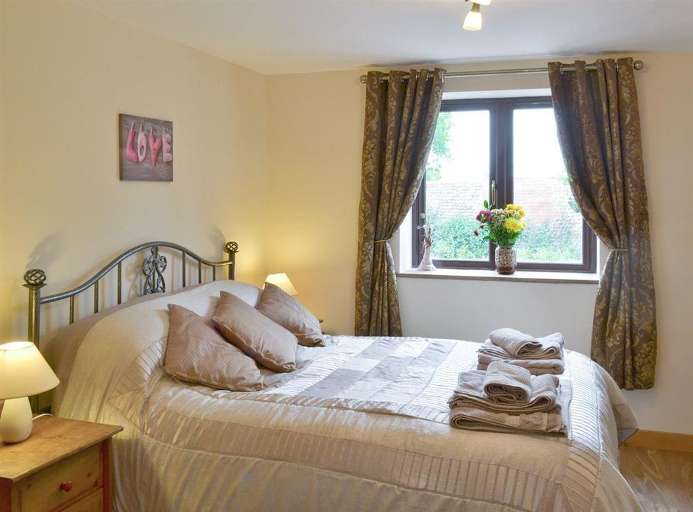 Comfortable double bedroom at Annexe at Church Farm Barn in Ingham, near Stalham, Norfolk