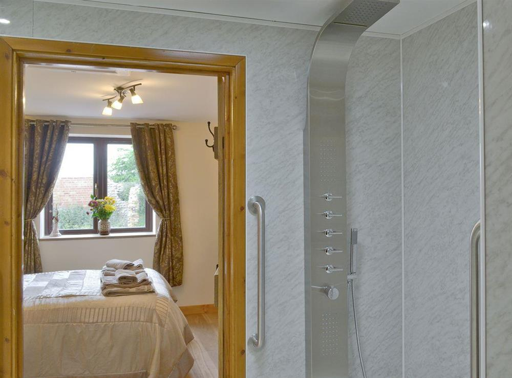 Modern en-suite wetroom at Annexe at Church Farm Barn in Ingham, near Stalham, Norfolk