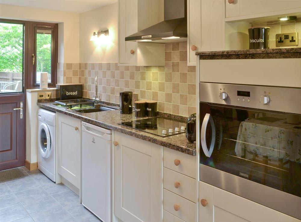 Well-equipped fitted kitchen at Annexe at Church Farm Barn in Ingham, near Stalham, Norfolk