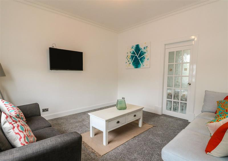 The living area at Annielea Cottage, Helensburgh