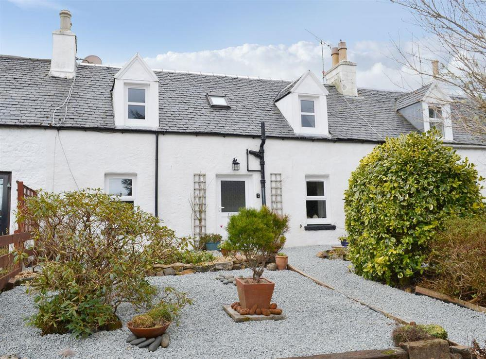 Traditional Scottish cottage lovingly refurbished as a holiday property at Annies Cottage in Edinbane, near Portree, Isle Of Skye