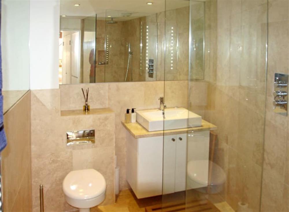 Shower room at Antells Farm Barn in Sturminster Newton, Dorset