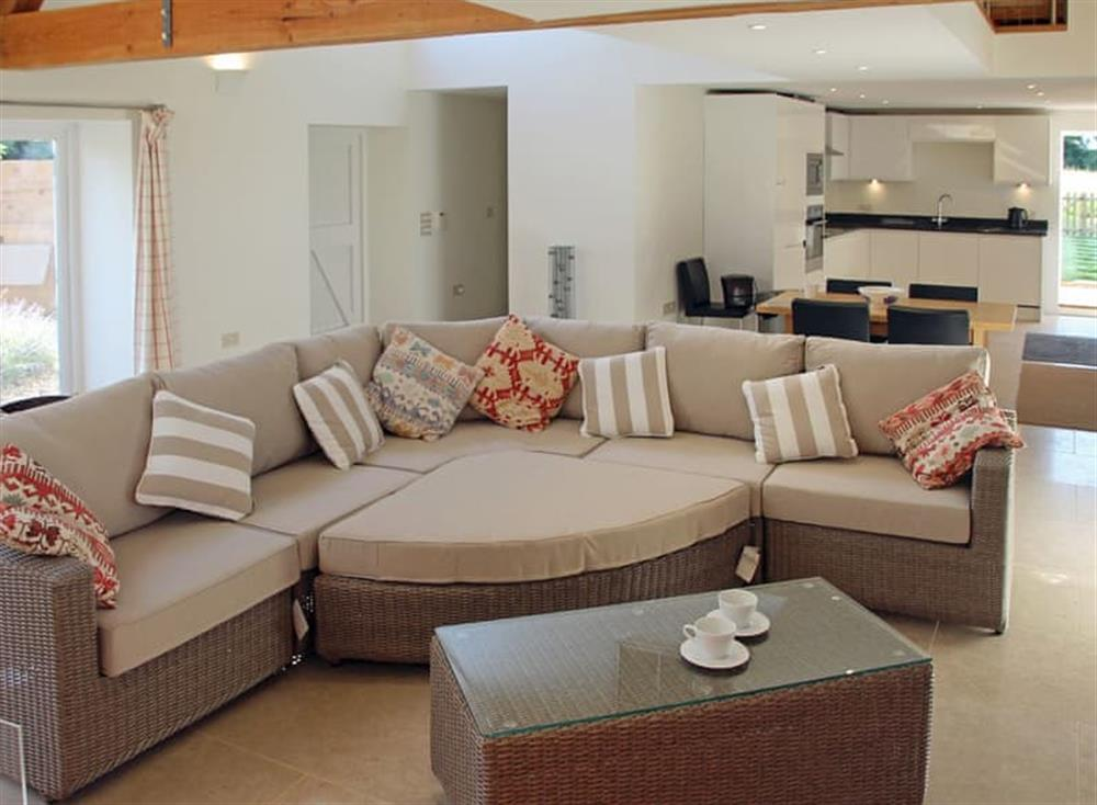 Well presented open plan living space at Antells Farm Barn in Sturminster Newton, Dorset