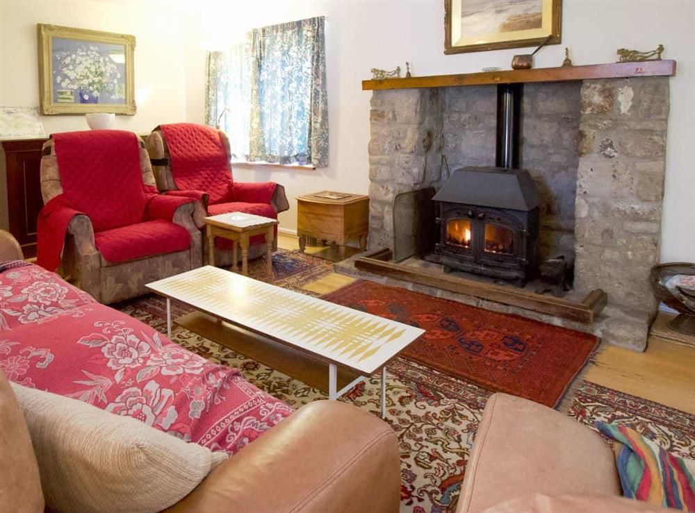 Comfortable living room at Anvil Cottage in Twyford, near Shaftesbury, Dorset