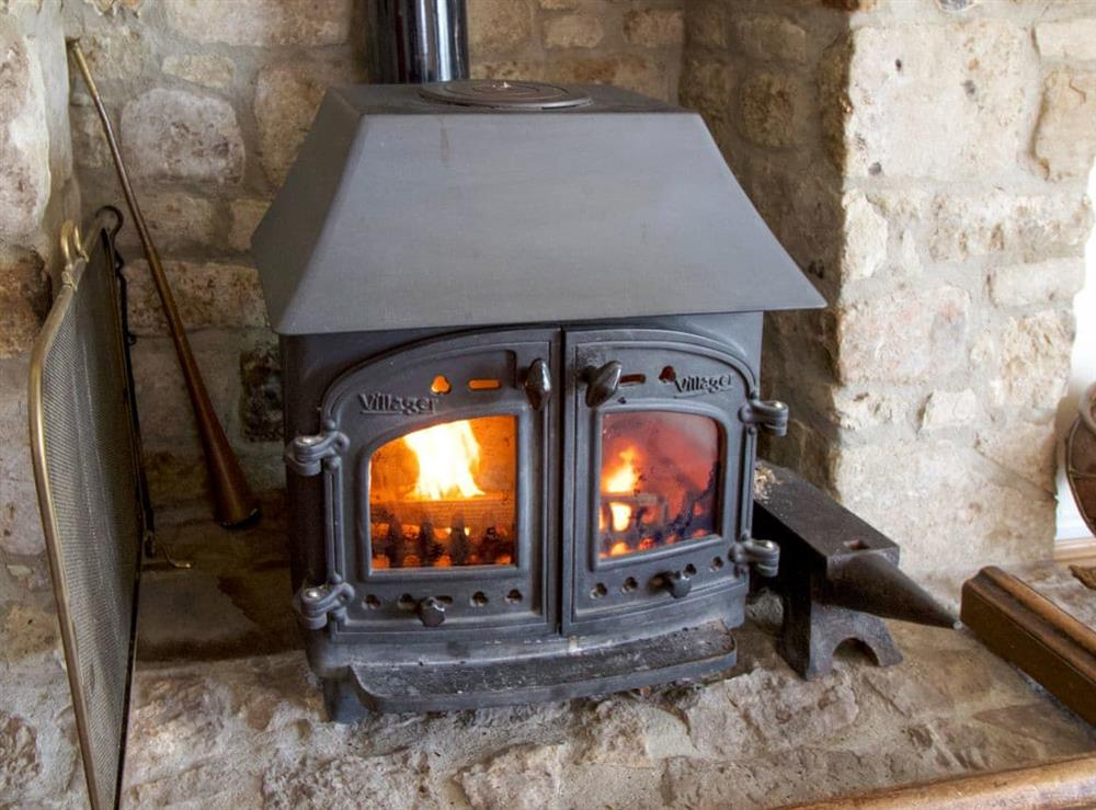 Cosy wood burner at Anvil Cottage in Twyford, near Shaftesbury, Dorset
