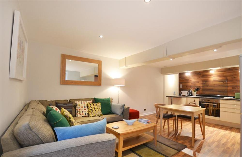 The beautiful open plan living space at Apartment 1, Buller House, Looe