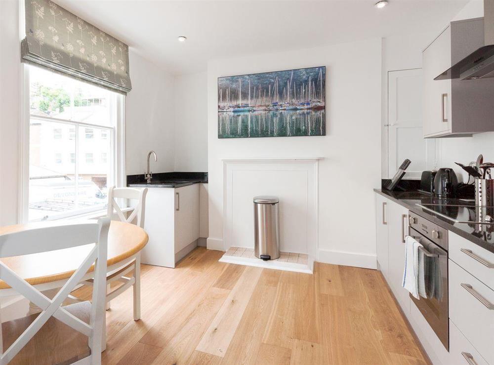 Charming kitchen/ dining area at Apartment 1 in Dartmouth, Devon